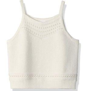 🍍 Crazy 8 NWT Cream Sweater Tank Girls' Top Large